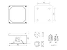 Junction box 85x85x50 4