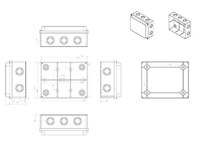 Junction box 180x140x80 4